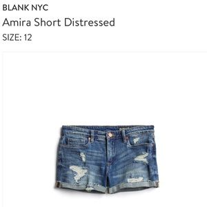 Blank NYC Amira Short - Distressed